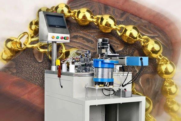 电离子碰焊机对黄金佛珠链的焊接特点以及优势